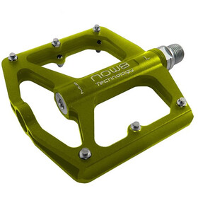 NOW8 M46 Flat Pedals 6 Pins, yellow green
